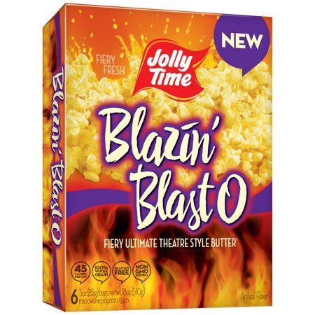 jolly time blazin blast  microwave popcorn  oz  bag