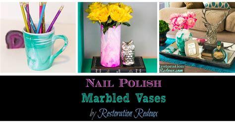Home Decor Wichita Ks nail polish marbled vases hometalk