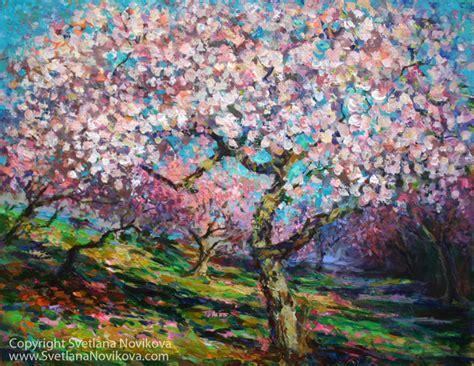 spring paint svetlana novikova studio new impressionistic spring