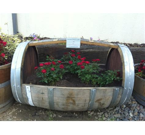 Small Wine Barrel Planter by Cradle Style Wine Barrel Planter Celtic Timber