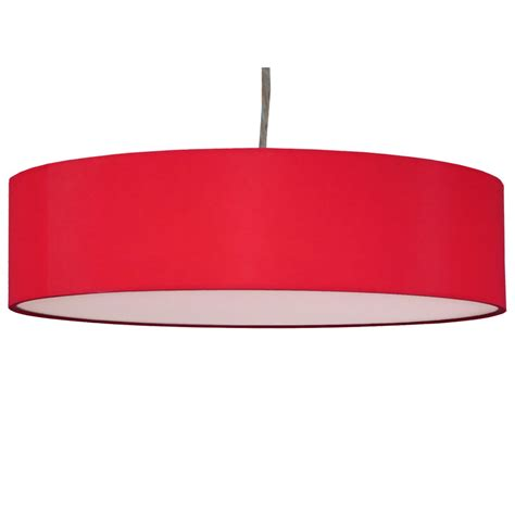 Hanging Candle Chandelier Non Electric Thin Drum Pendant Shade In Red Cotton Imperial Lighting