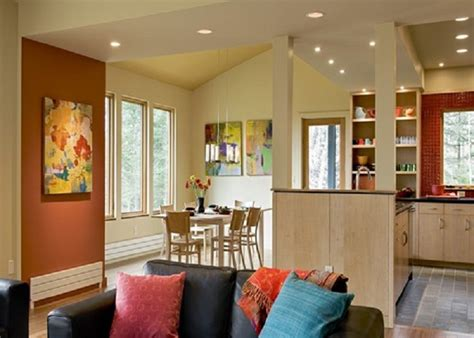 kitchen and dining room colors painting benjamin moore spiced pumpkin accent wall