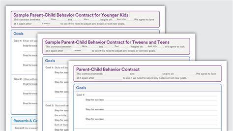 sle behavior contracts parent child behavior contracts