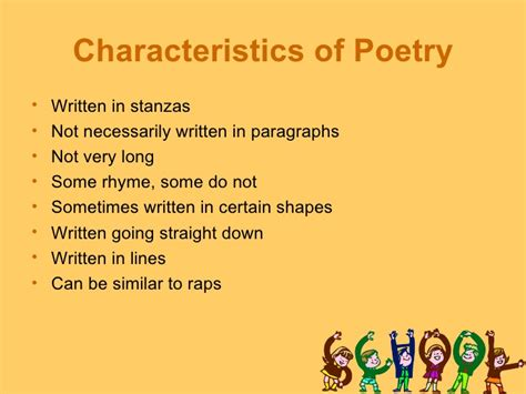 what are sections of a poem called 5th grade poetry unit