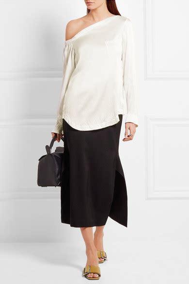 Who Wore It Better Jil Sander One Shoulder Dress by Jil Sander One Shoulder Silk Satin Top Net A Porter