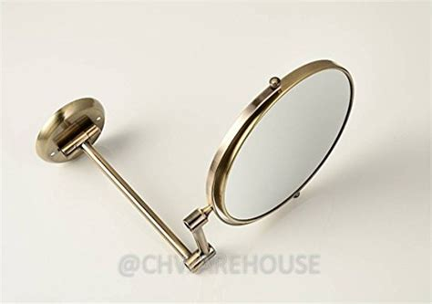swing arm magnifying mirror brass 8 magnifying mirror for bath wall mounted swing
