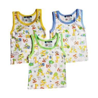 Singlet Bayi Size S jual ridges kaos singlet pakaian bayi size m 3 pcs mix