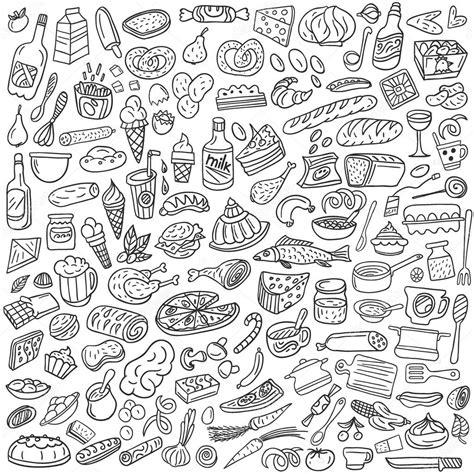 doodle drawing illustrator food doodles stock vector 169 topform 24325129