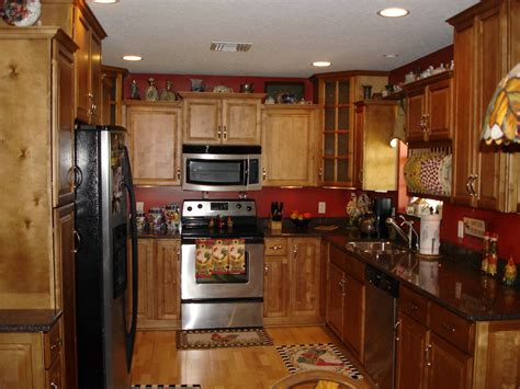 red kitchen walls with oak cabinets red kitchen walls with oak cabinets manicinthecity