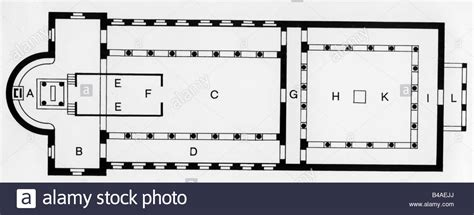 basilica floor plan architecture floor plans plan of a christian basilica 4th 5th stock photo royalty free image