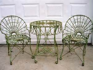 wrought iron loops style chair metal seating