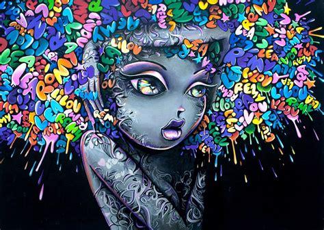 Colorful Graffiti Wallpaper | colorful girl graffiti wallpaper hd by zolmariee