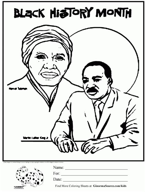 black history month coloring page black history month