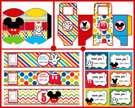 printable mickey mouse birthday decorations mickey mouse birthday decorations mickey mouse party favors