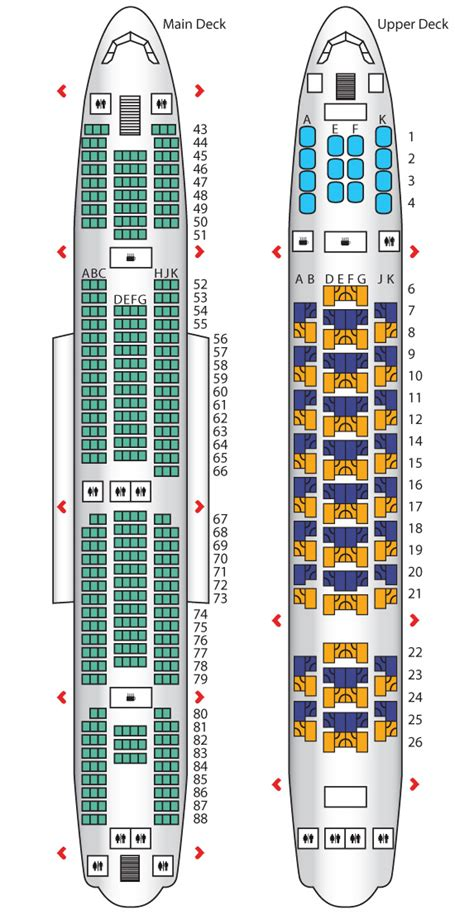 emirates seat map economy class a380 config 1 emirates seat maps