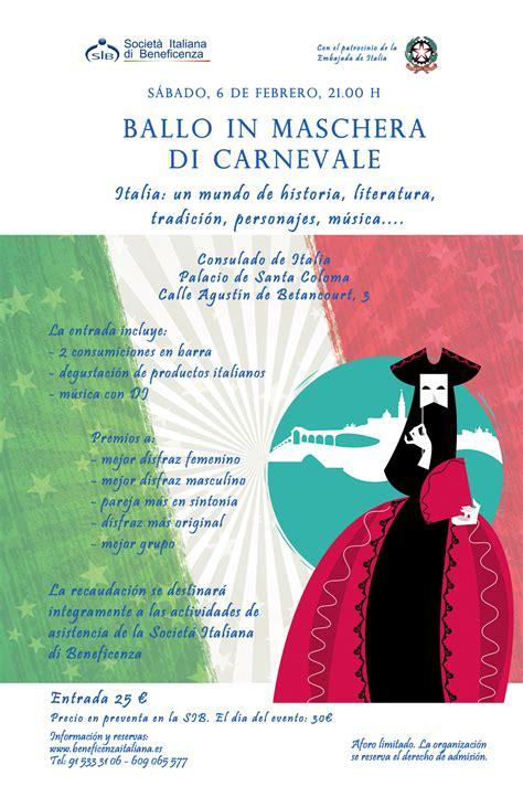 consolato italiano alle canarie ballo in maschera della societ 225 italiana di beneficenza
