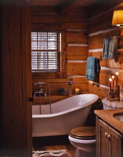 jack hannas log cabin bathroom hooked  houses