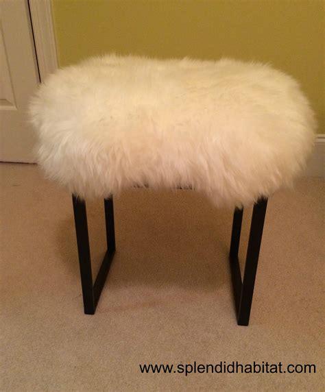 mongolian fur bar stool ottomans sheepskin stool cover mongolian stool uk