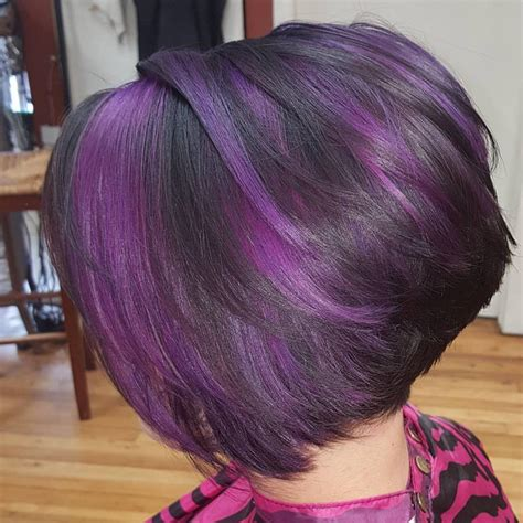 black n purple hair the gallery for gt feathered bobs for black women