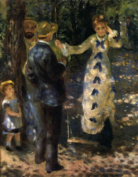 lady on swing painting the swing by renoir pierre auguste