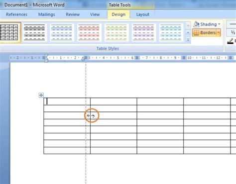 cara membuat tabel html sederhana cara pembuatan tabel ms word 2007 belajar nge blog