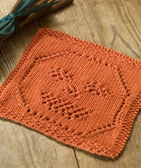 printable free knitting patterns lacy jack o lantern dishcloth knitting pattern red heart