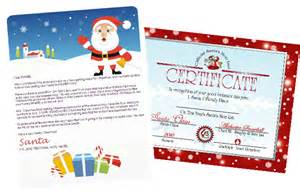 Santa Gift Certificate Template Santa Letters To Print At Home Gifts Designs At