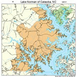 carolina lakes map lake norman of catawba carolina map 3736511