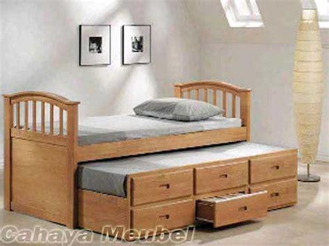Tempat Tidur Kayu Biasa Minimalis tempat tidur anak sorong minimalis kayu jati tempat tidur