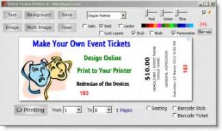 create your own tickets template print your own event tickets