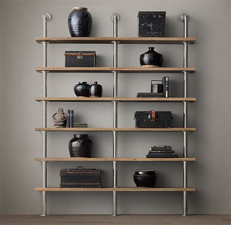 Book Shelf System by Pipe Shelves
