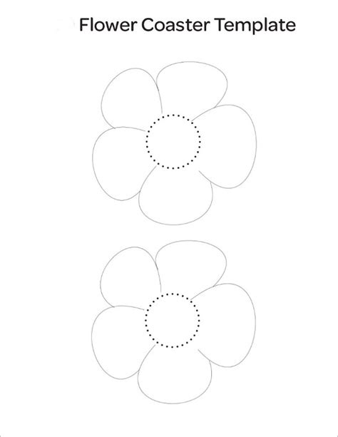 coaster size template sle flower temlate 6 documents in pdf