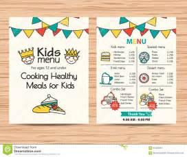 kids meal menu vector template restaurant menu design