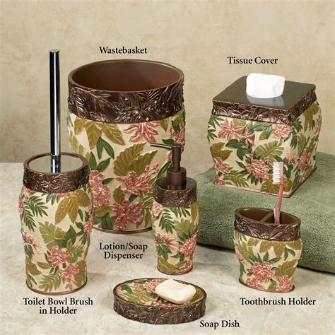 tropical bathroom accessories tropical bath accessories