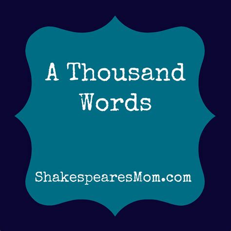 a thousand words a and ã s glimpse of the world books a thousand words shakespeare s