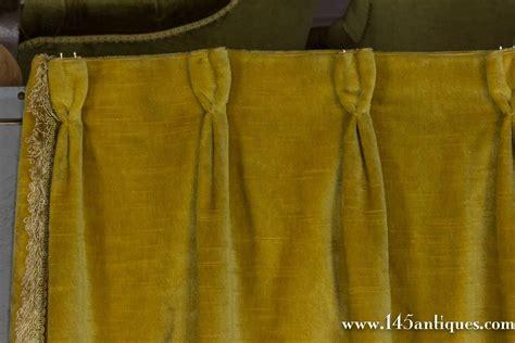Gold Velvet Curtains Pair Of Rich Gold Velvet Drapes For Sale At 1stdibs