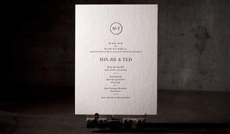 invitation printers hong kong modern wedding invitations no 12165 boxcar press letterpress printing