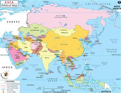 political map of asia with capitals asia on map large of easy to read and printable nextread me