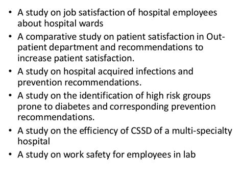 Mba Project Report On Health And Safety by Project Report Titles For Mba In Health Care