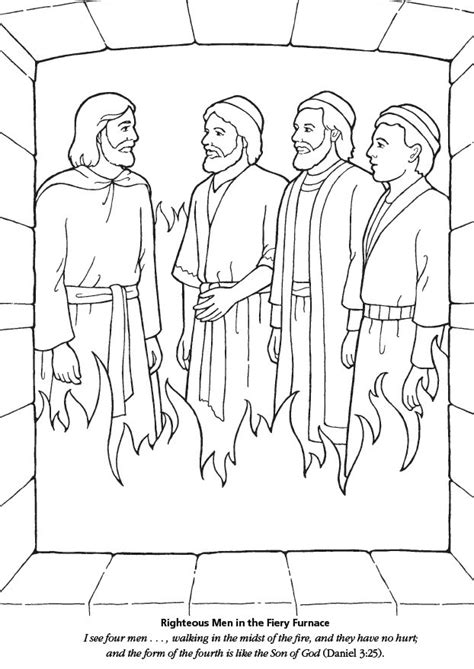 Lds Games Color Time Righteous Men In Fiery Furnace 3 Hebrew Boys In The Fiery Furnace Printable