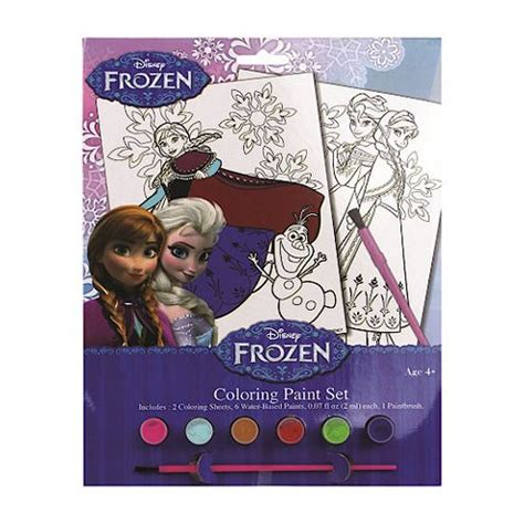 buy disney frozen colouring paint set from our supplies range tesco