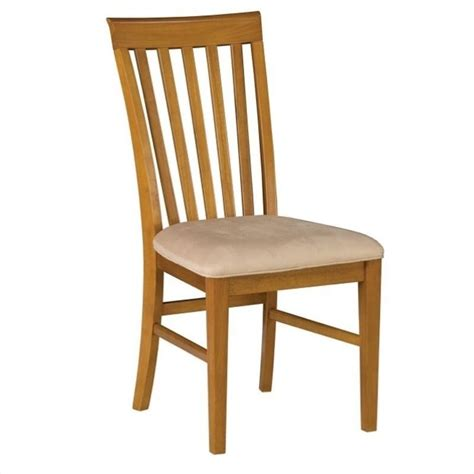 atlantic furniture mission dining chair in caramel latte