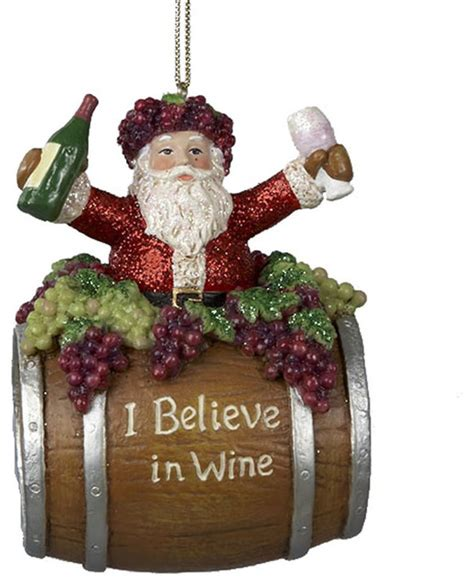 believe holiday decoration kurt adler santa i believe in wine ornament ornaments by glam nyc