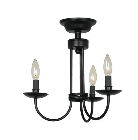 Wrought Iron Ceiling Light Fixtures Artcraft Lighting Ac1783eb Black Wrought Iron 3 Light Semi Flush Ceiling Fixture