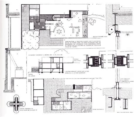 villa tugendhat floor plan tugendhat house houses pinterest ludwig mies van der