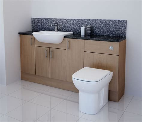 oak bathroom furniture bathcabz bathroom fitted furniture products fitted furniture 1700mm oak