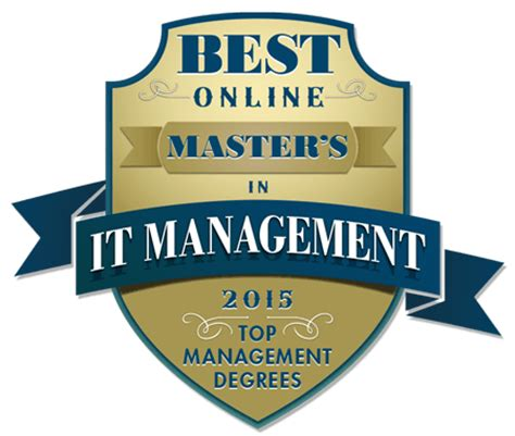 best master in management top 50 masters degrees in information technology