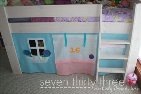 simple no sew bunk bed tent the palette muse no sew loft bed felt tent tutorial inspiration made simple
