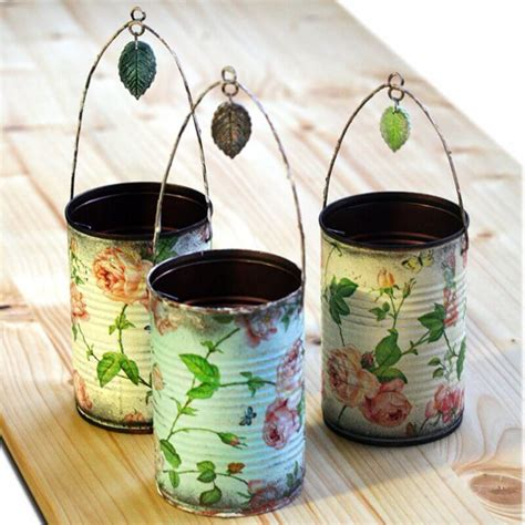 decoupage tin ideas para reciclar latas 30 manualidades creativas