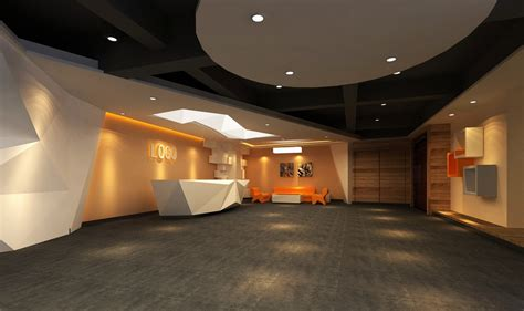simple european style sales office reception room interior creative company reception hall interior design